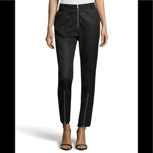 ALEXANDER MCQUEEN Exposed Zipper Twill Trousers 2